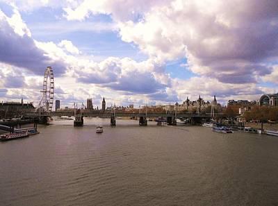 View From Waterloo Bridge West Original