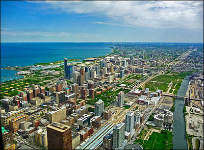 Photograph - East View Of Chicago From Willis Tower by Ginger Wakem