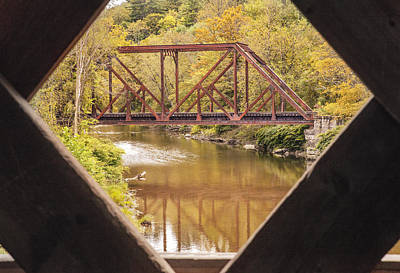 View From Worrall Covered Bridge Art Print