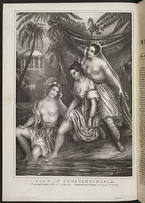 Depictions Of Nudity Photograph - View In Constantinople by British Library