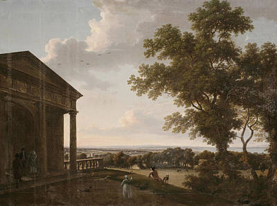 Portico Wall Art - Painting - View In Mount Merrion Park, 1804 by William Ashford