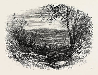 Pennsylvania Drawing - View In Pennsylvania, Alleghany Mountains In The Distance by American School