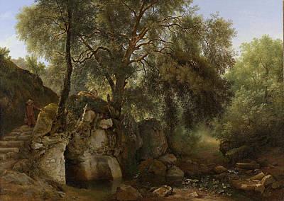 View In The Park Of The Villa Chigi At Ariccia Art Print