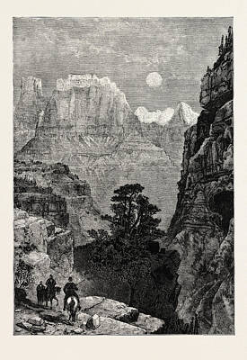 View In Utah Temple Of The Virgin Mu-koon-tu-weap Valley Art Print