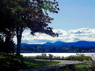 Photograph - View In Victoria B C Canada by Gena Weiser