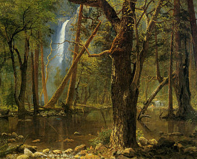 Yosemite National Park Digital Art - View In Yosemite Valley 1871 by Albert Bierstadt