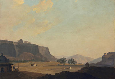 Madhya Pradesh Painting - View Near Fort Gwalior, India, C.1783 by William Hodges