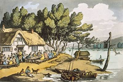 Enjoyment Painting - View Near Newport, Isle Of Wight by Thomas Rowlandson
