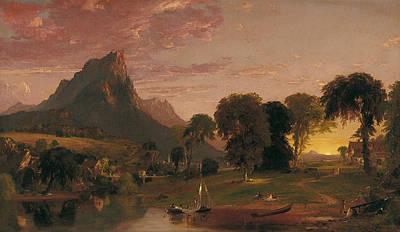 Jasper Cropsey Painting - View Near Sherburne Chenango County. New York by Jasper Francis Cropsey