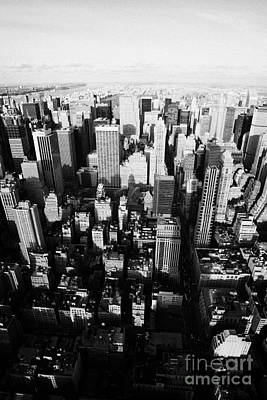 View North And Down Towards Central Park From Empire State Building New York Art Print by Joe Fox