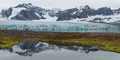 View Of 14th July Glacier, Spitsbergen Art Print by Panoramic Images