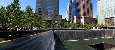 September 11 Photograph - View Of 911 Memorial, Manhattan, New by Panoramic Images
