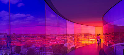 View Of A City From The Translucent Art Print by Panoramic Images