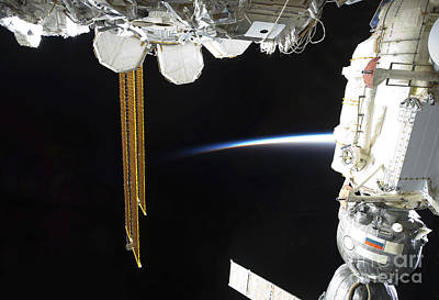 Exploration Of Space Photograph - View Of A Docked Russian Soyuz by Stocktrek Images