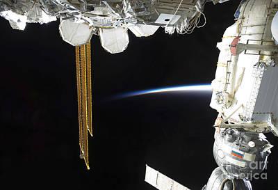 Door Locks And Handles - View Of A Docked Russian Soyuz by Stocktrek Images