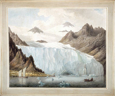 View Of A Glacier Print by British Library