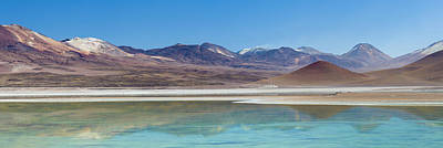 View Of A Salt Lake In The High Art Print