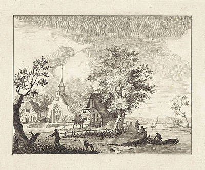 Town Square Drawing - View Of A Town Square, Henricus Van Der Winden by Artokoloro