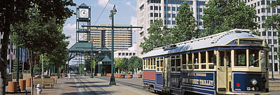 View Of A Tram Trolley On A City Art Print