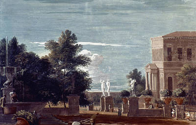 Villa Painting - View Of A Villa by Granger