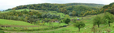 Romania Photograph - View Of A Village, Bradu, Arges County by Panoramic Images