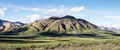 View Of Alaska Range Near Polychrome Art Print by Panoramic Images