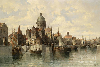 North Sea Painting - View Of Amsterdam by Celestial Images