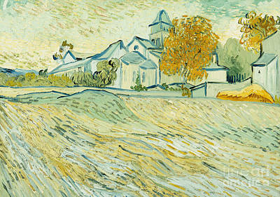 View Of Asylum And Saint-remy Chapel Art Print by Vincent van Gogh