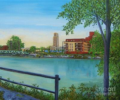 Lachine Painting - View Of Atwater Market From The Canal by Reb Frost