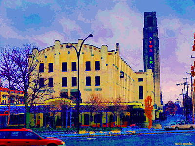 Montreal Buildings Painting - View Of Atwater Market Near Lachine Canal Lionel Groulx  Metro Montreal Urban Scenes Carole Spandau by Carole Spandau