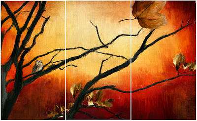 Maple Leaf Art Digital Art - View Of Autumn by Lourry Legarde