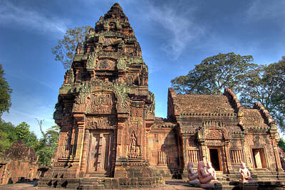 Ancient Civilization Photograph - View Of Banteay Srei, Angkor, Siem Reap by Jaynes Gallery