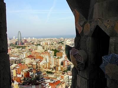 Photograph - View Of Barcelona From Sagrada Familia by Jacqueline M Lewis