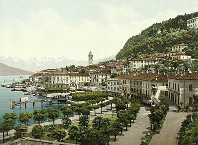 Lake Como Drawing - View Of Bellagio On Lake Como, Italy by Artokoloro