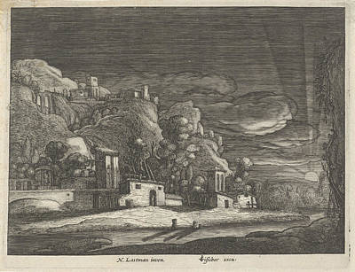 3.14 Drawing - View Of Bethany, Anonymous by Anonymous And Claes Jansz. Visscher (ii)