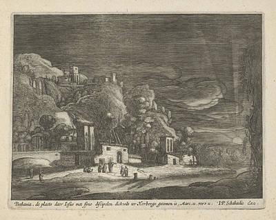 3.14 Drawing - View Of Bethany, Nicolaes Lastman, Anonymous by Nicolaes Lastman And Anonymous And Jan Philipsz Schabaelje