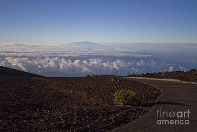 Photograph - View Of Big Island - Hawaii From The Summit Of Haleakala Maui Hawaii by Sharon Mau