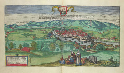Cartography Photograph - View Of Bilbao by British Library