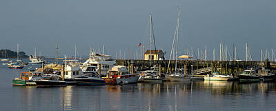 Knox County Photograph - View Of Boats At A Harbor, Rockland by Panoramic Images