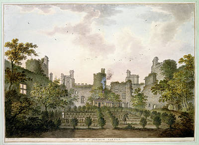 View Of Bodiam Castle Art Print by British Library