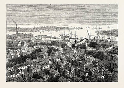 Bunker Hill Drawing - View Of Boston From Bunkers Hill, United States Of America by American School