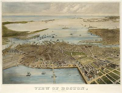 View Of Boston July 4th 1870 Art Print