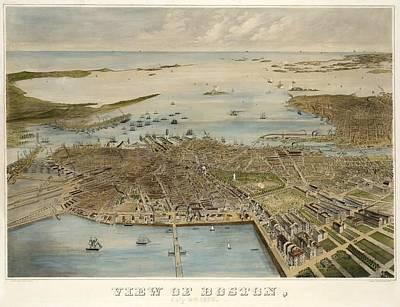 View Of Boston July 4th 1870 Art Print