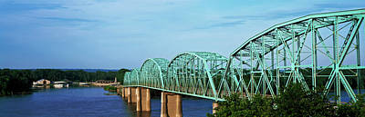 Mississippi River Scene Photograph - View Of Bridge Over Mississippi River by Panoramic Images