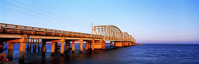 Mobile Bay Photograph - View Of Bridge Over Mobile Bay by Panoramic Images