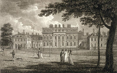 Buckingham Palace Drawing - View Of Buckingham House, Engraved by Edward Dayes