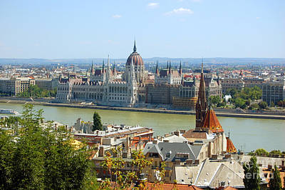 Hungarian Photograph - View Of Budapest  by Michal Bednarek