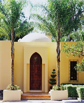Photograph - View Of Building Entrance With Palm Trees by Scott Frances