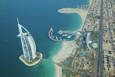 Photograph - View Of Burj Al Arab From Seaplane by Frank Fell / Robertharding
