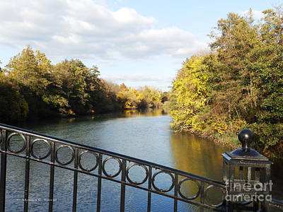 Photograph - View Of Canal From Footbridge - M Landscapes Fall Collection No. Lf22 by Monica C Stovall